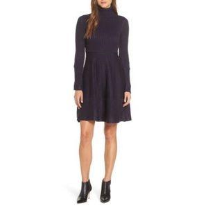 Eliza J Turtleneck Sweater Ribbed Dress